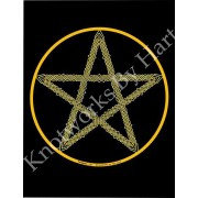 Pentagram - East - Air - Yellow on Black