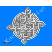 Endless Knot - Silver on Blue