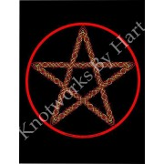 Pentagram - Fire -  Red Star on Black