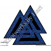 Valknut 2 - Interlace Knotwork - Blue