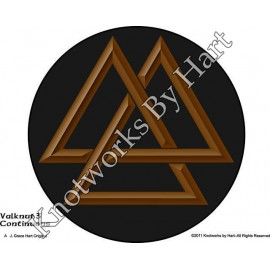 Valknut 1 - Brown on Black