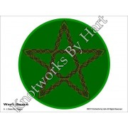 5 point - Wood Star on Green